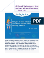 10 Types of Email Validators, You Should Consider When Cleaning Your List