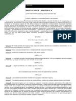 Constitución de La República - 1830