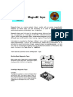 Magnetic Tape Notes