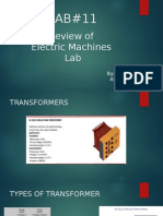 Review of Electric Machines Lab