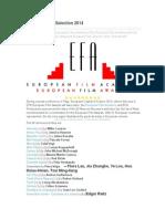 50 Films in EFA Selection 2014