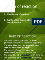 1 Rate of Reaction