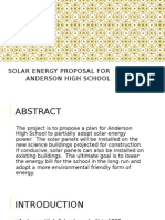 solar energy proposal for anderson high school