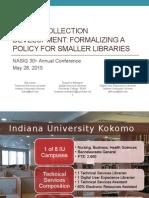 E-book Collection Development