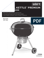 Weber 14401001 Original Kettle Premium Freestanding Charcoal Grill - Instructions & Assembly Guide