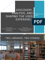 Discovery, Analysis & Shaping the User Experience