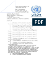 UN GUARD UNIT AWARDED MEDALS AT THE END OF TOUR OF DUTY IN SOMALIA