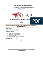 Norma General Para El Componente de Información y Comunicación