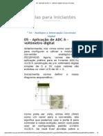 05 - Aplicação de ADC