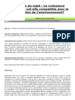 La Croissance Économique Est Elle compatible avec la préservation de l'environnement ?