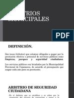 ARBITRIOS MUNICIPALES