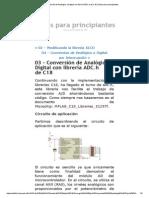 03 – Conversión de Analógico a Digital Con Librería ADC