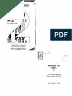 Apuntes de Obra 2. Construcciones Para Arquitectos - Cussi