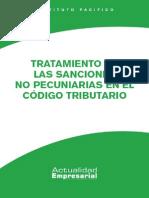 Tratamiento de Las Sanciones No Pecuniarias en El c t