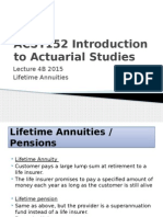 ACST152 2015 Week 4B Lifetime Annuity Popularity