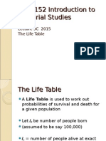 ACST152 2015 Lecture 3C Life Tables Introduction