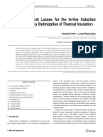 Reduction of Heat Losses for the in-line Induction