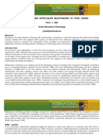 Building Long Term Buyer Seller Relationship in Food Chains (Batt, 2003)