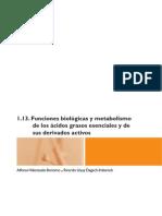 Funciones Biológicas y Metabolismo de Los Ácidos Grasos Esenciales y de Sus Derivados Activos