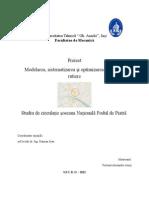 Modelarea, Sistematizarea Și Optimizarea Circulației Rutiere