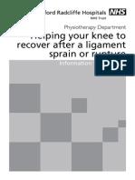 Knee Sprain