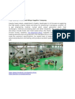 10.Supplier of Inconel, Incoloy, Hastelloy, Monel and Resistance Heating materials