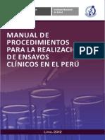 Manual de Proc Para La Realizacion de Ensayos Clinicos
