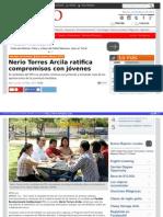26-05-2015 Nerio Torres Arcila ratifica compromisos con jóvenes.