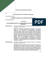 29-01-2014 Ley No. 854 Reformas Constitucionales