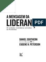 A Mensagem Da Liderança (E-book)