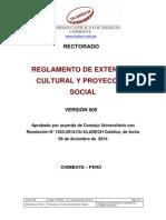 Reglamento Extension Cultural Proyeccion Social v5