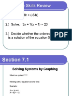 solve system of equations using graphing ppt