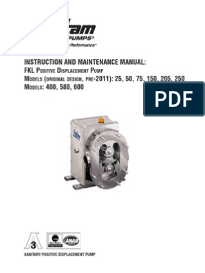 Instruction and Maintenance Manual | Screw | Pump