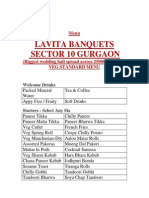 Lavita Banquets Veg Menu New 1