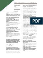 Lista de Exercícios de Cálculo 2