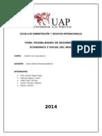Posibilidades de desarrollo económico y social para el Perú.
