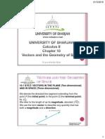 Calculus 2 Chapter10 vectors in space