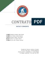 Contrato de Mutuo y Contrato de Comodato