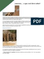 Construindo Formas Para Concreto