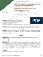 Matemáticas, Ejercicios de Selectividad