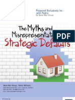 The Myths and Misrepresentation of Strategic Defaults Report