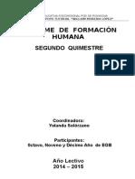 Informe II Quimestre Formación Humana w.m 2015.