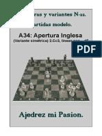 22-A34 Apertura Inglesa (Variante simétrica) 2.Cc3, líneas con ...d5.pdf