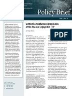 Getting Legislatures on Both Sides of the Atlantic Engaged in TTIP