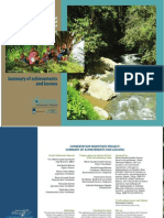 Conservation Incentives for territorial Management and Mitigation of Socio Environmental Conflicts Project. Summary of achievements and lessons
