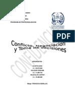 CONFLICTO, NEGOCIACION Y TOMA DE DECISIONES EN ENFERMERIA
