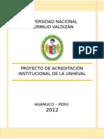 Proyecto de Acreditación Institucional 2012