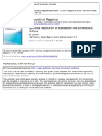 Philosophical Magazine Volume 21 Issue 172 1970 [Doi 10.1080%2F14786437008238472] Landauer, Rolf -- Electrical Resistance of Disordered One-dimensional Lattices
