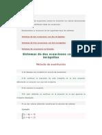 Sistema de Ecuaciones matematica