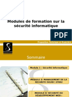 FORMATION Sécurité Informatique Ppt